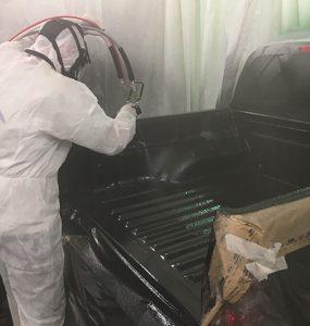 Spraying Ute Liners